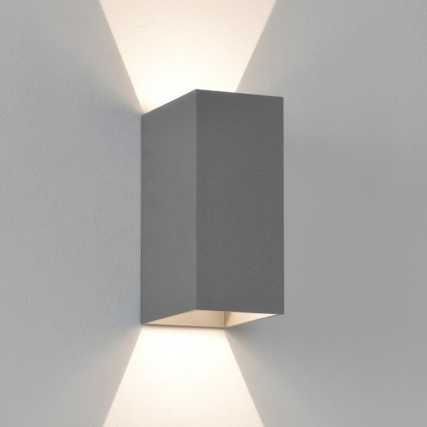 Astro Oslo 160 LED Outdoor Wall Light in Textured Grey