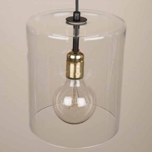 Culinary Concepts LX-6487 Ludlow Pendant Light With Cylindrical Glass Shade