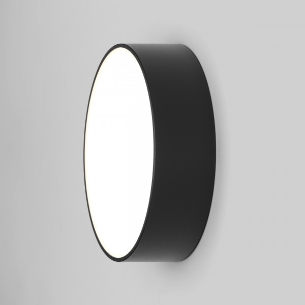Astro Kea 250 Round Outdoor Wall Light in Textured Black
