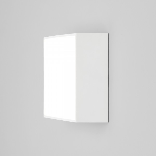 Astro Kea 140 Square Outdoor Wall Light in Textured White