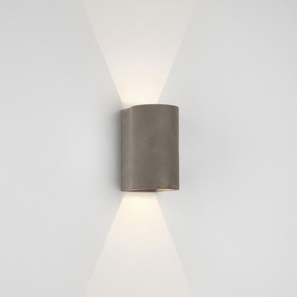Astro Dunbar 160 LED Coastal Wall Light in Concrete