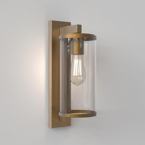 Astro Pimlico 400 Outdoor Wall Light in Antique Brass