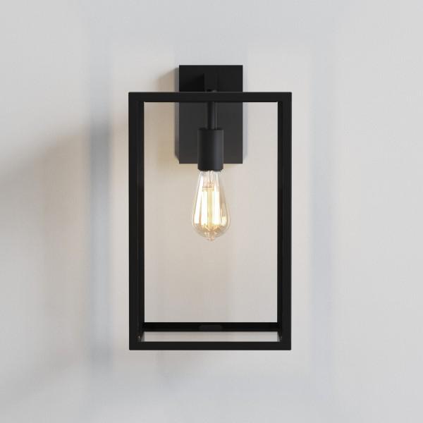 Astro Box Lantern 450 Outdoor Wall Light in Textured Black