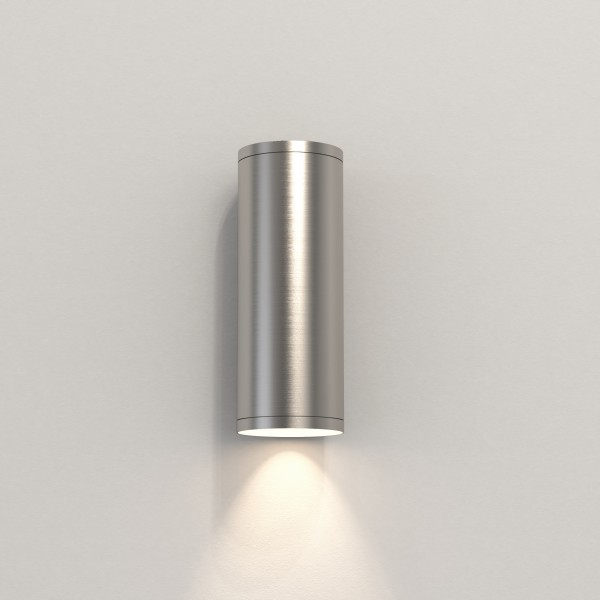 Astro Ava 200 Coastal Wall Light in Brushed Stainless Steel