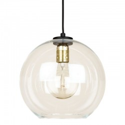 Culinary Concepts LX-6488 Globe Clear Glass Shade Pendant Light