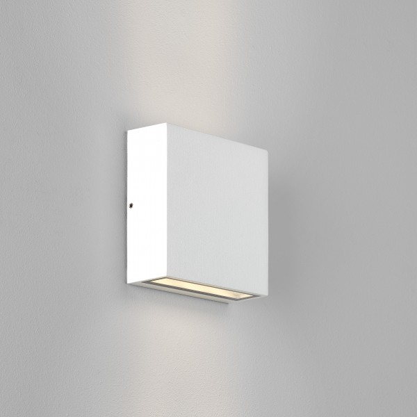 Astro Elis Twin LED Outdoor Wall Light in Textured White