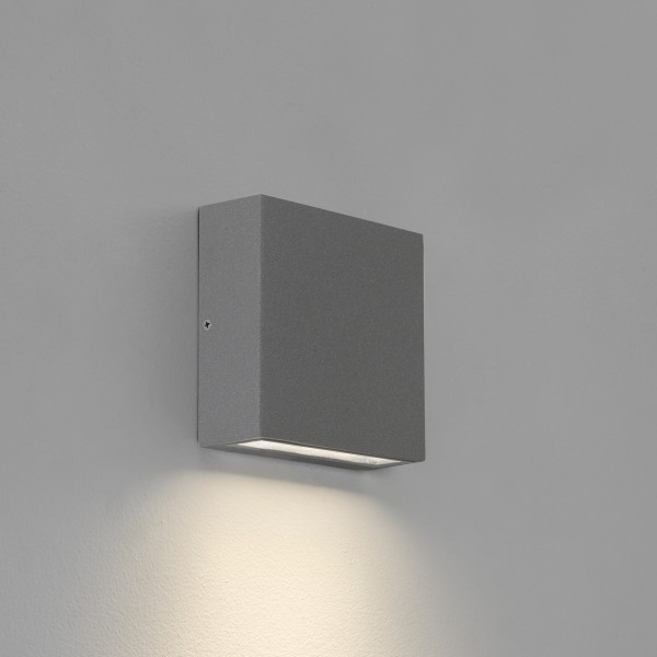 Astro Elis Single LED Outdoor Wall Light in Textured Grey