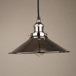 Culinary Concepts HNK-MLGE-NKL Large Hanging Triangular Metal Shade With Fitment in Polished Nickel