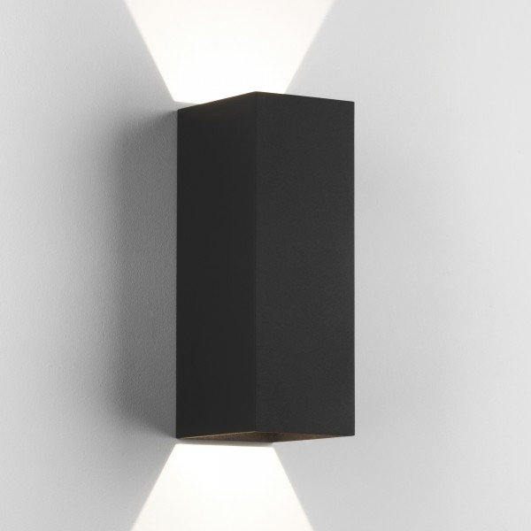 Astro Oslo 255 LED Outdoor Wall Light in Textured Black