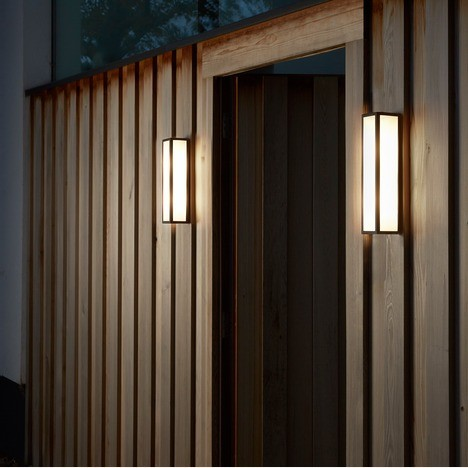 Astro Salerno LED Outdoor Wall Light in Textured Black