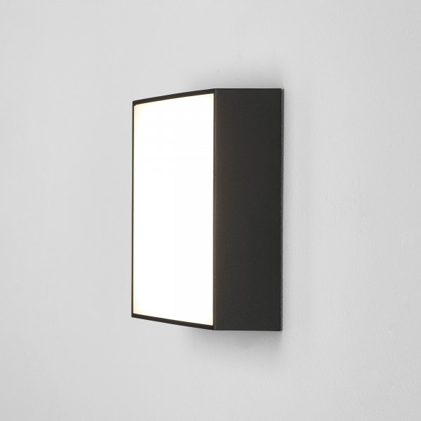 Astro Kea 240 Square Outdoor Wall Light in Textured Black