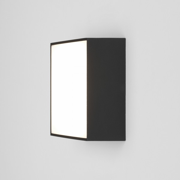 Astro Kea 140 Square Outdoor Wall Light in Textured Black