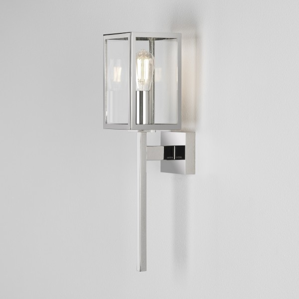 Astro Coach 100 Outdoor Wall Light in Polished Nickel