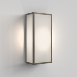 Astro 1183026 Messina 160 Frosted II Outdoor Wall Light in Bronze