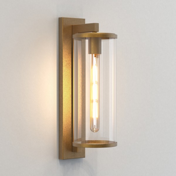 Astro Pimlico 500 Outdoor Wall Light in Antique Brass