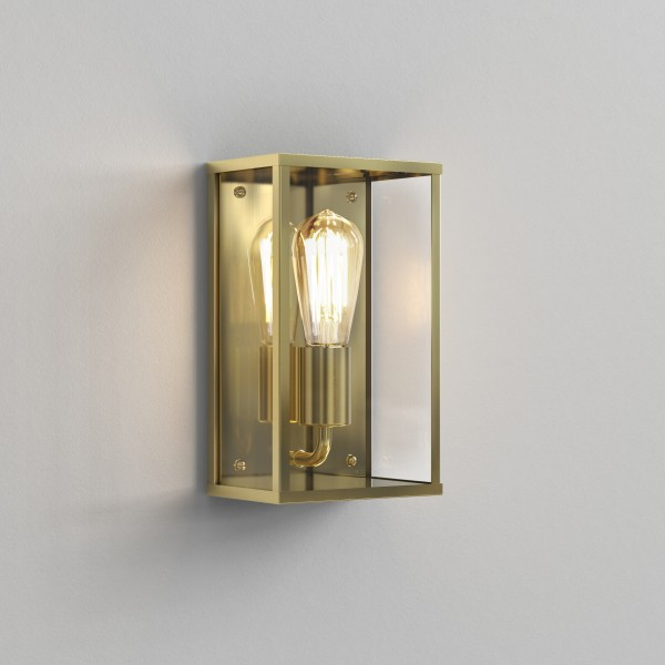 Astro Homefield Outdoor Wall Light in Natural Brass