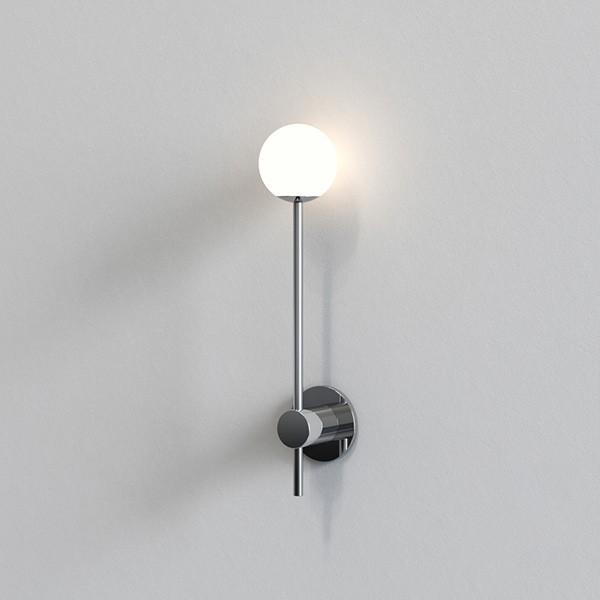 Astro Orb Single Bathroom Wall Light in Polished Chrome