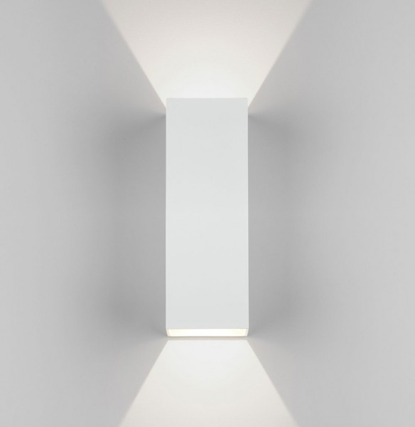 Astro Oslo 255 LED Outdoor Wall Light in Textured White