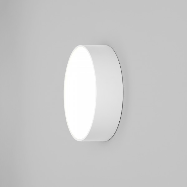 Astro Kea 250 Round Outdoor Wall Light in Textured White