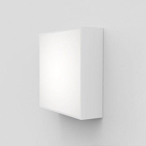 Astro Kea 240 Square Outdoor Wall Light in Textured White