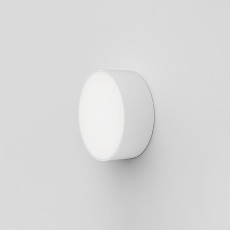Astro Kea 150 Round Outdoor Wall Light in Textured White
