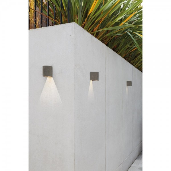 Astro Dunbar 120 LED Coastal Wall Light in Concrete
