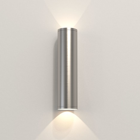 Astro Ava 300 Coastal Wall Light in Brushed Stainless Steel