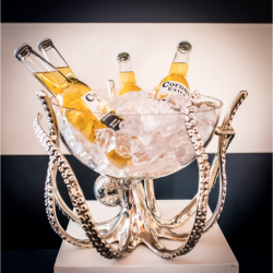 Culinary Concepts OCT-STNDBWL Octopus Stand And Glass Bowl
