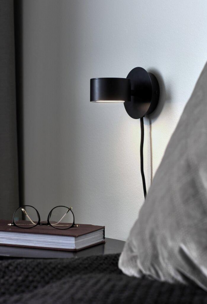 Nordlux 2010821003 Clyde LED Wall Light in Black