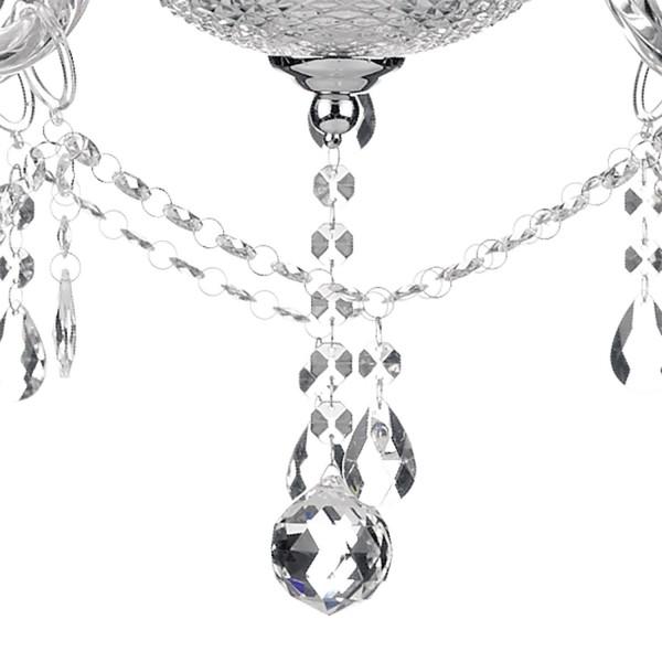 Dar Lighting KAT1350 Katie 9-Light chandelier in polished Chrome