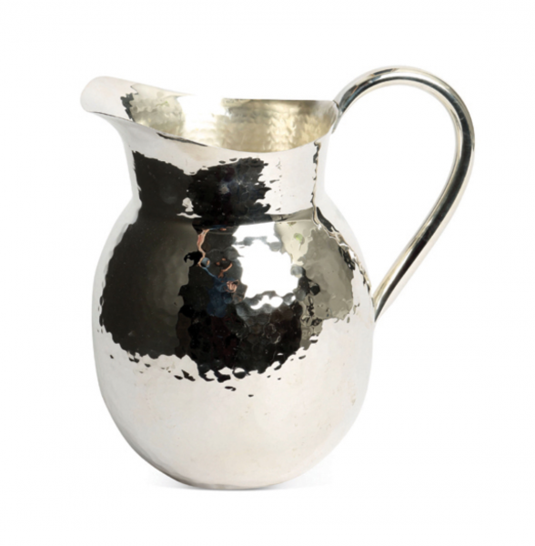 Culinary Concepts 7022M-CH Medium Champagne Hammered Jug