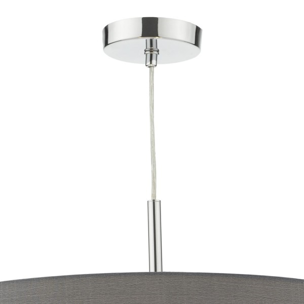 Dar Lighting RON1739 Ronda 60cm 3 Light Pendant Slate Grey c/w diffuser