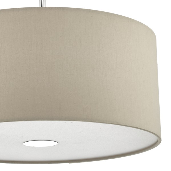Dar Lighting RON1029 Ronda 40cm 3lt Pendant Ecru c/w diffuser