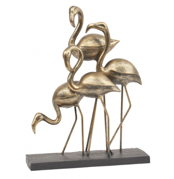 The Libra Company 701978 Antique Bronze Group Of Flamingo