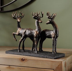 The Libra Company 700194 Stag Trio Sculpture