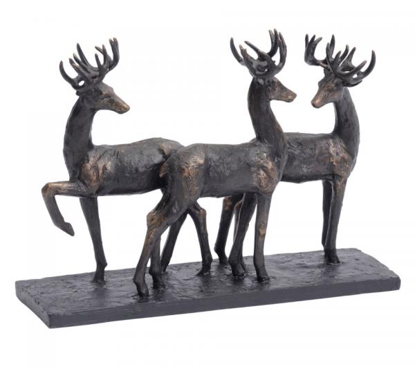 The Libra Company 700194 Stag Trio Sculpture