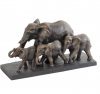 The Libra Company 701136 Antique Bronze Parade Of Elephants Sculpture