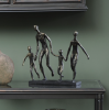 The Libra Company 701363 Antique Bronze Family Of Four Holding Hands Sculpture