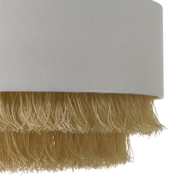 Dar Lighting OLG6512 Olgia Easy Fit Pendant Ivory & Gold