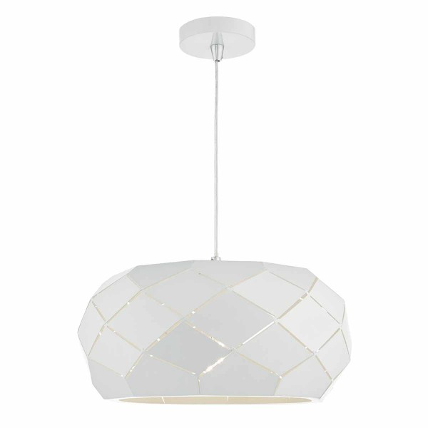Dar Lighting COB012 Coby 1lt Pendant White