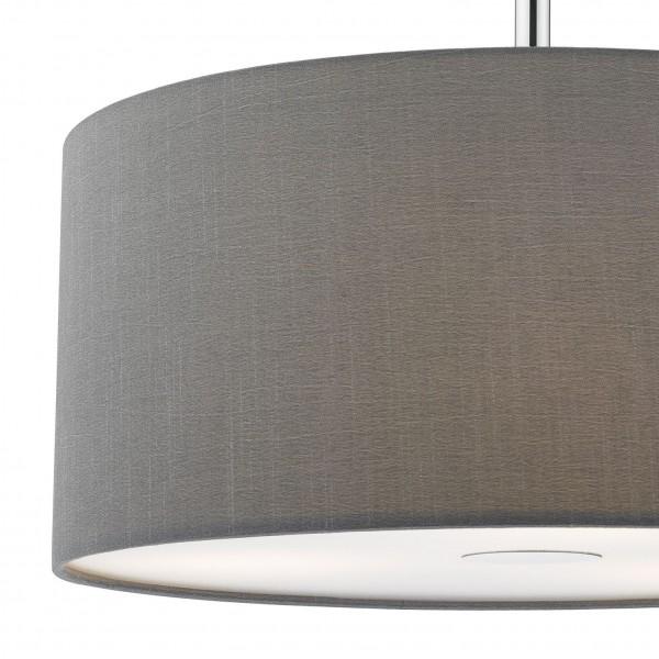 Dar Lighting RON1039 Ronda 40cm 3lt Pendant Slate Grey c/w Diffuser