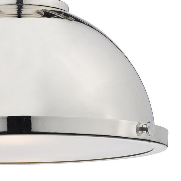 Dar Lighting ARO0138 Arona 1lt Pendant Polished Chrome
