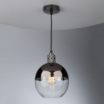 Dar Lighting RUE6563 Rue Easy Fit Pendant Glass Bronze and Clear