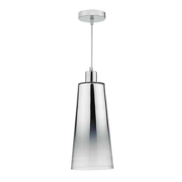 Dar Lighting SMO6550 Smokey Easy Fit Pendant Graduated Chromed Glass