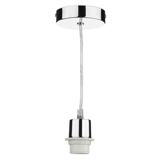 Dar Lighting SP65 1 Light Polished Chrome E27 Suspension Clear Cable