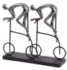The Libra Company 703186 Abstract Cyclist Sculpture in Gunmetal Grey