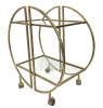 The libra Company 703552 Saturn Hammered Drinks Trolley