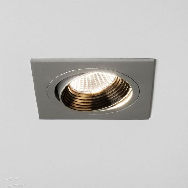 Astro Lighting 1256027 Aprilia 6.1W 2700K Square Anodised Aluminium Adjustable LED Downlight