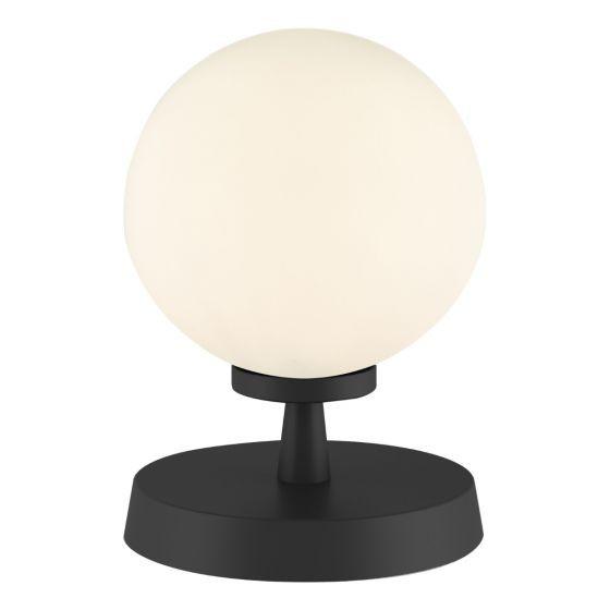 Dar Lighting ESB4122-02 Esben Touch Table Lamp Matt Black With Opal Glass