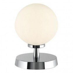 Dar Lighting ESB4150-02 Esben Touch Table Lamp Polished Chrome With Opal Glass